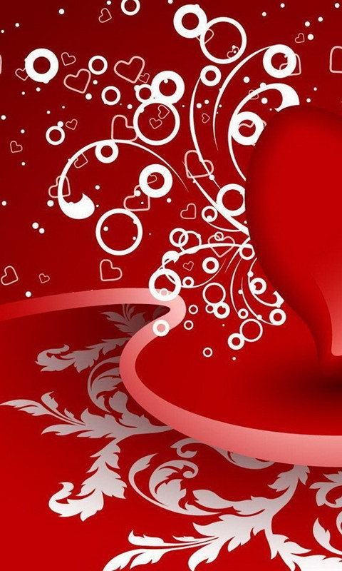 Red Love Left Windows Phone Wallpaper
