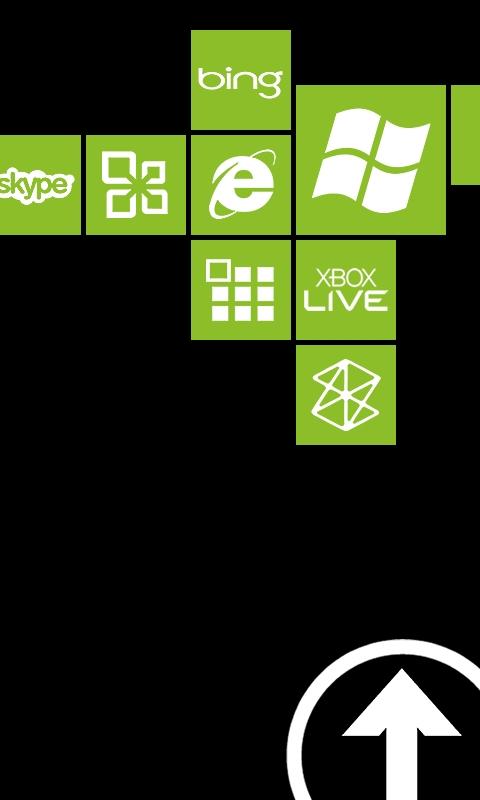 Metro Lock Block Light Green Windows Phone Wallpaper