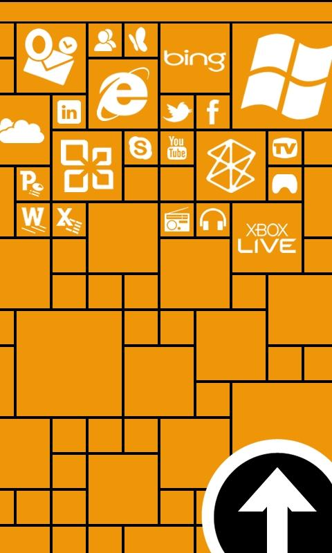 Metro Lock Dark Yellow Windows Phone Wallpaper