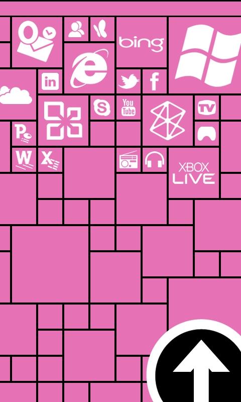 Metro Lock Pink Windows Phone Wallpaper