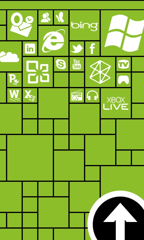 Metro Lock Light Green Windows Phone Wallpaper