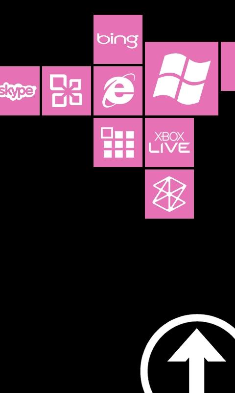 Metro Lock Block Light Pink Windows Phone Wallpaper