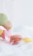 Strawberry Macarons