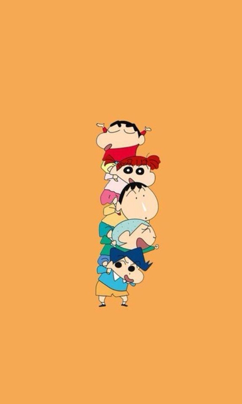 Crayon Shin-chan Family Windows Phone Wallpaper