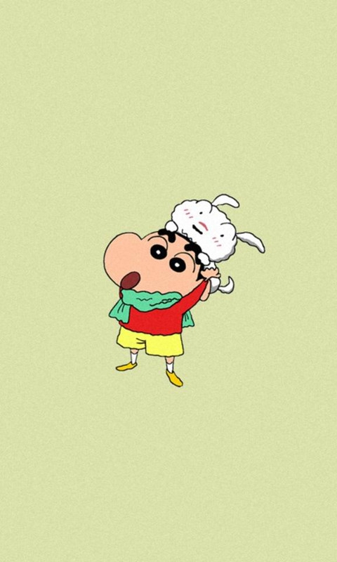 Crayon Shin-chan and Dog Windows Phone Wallpaper