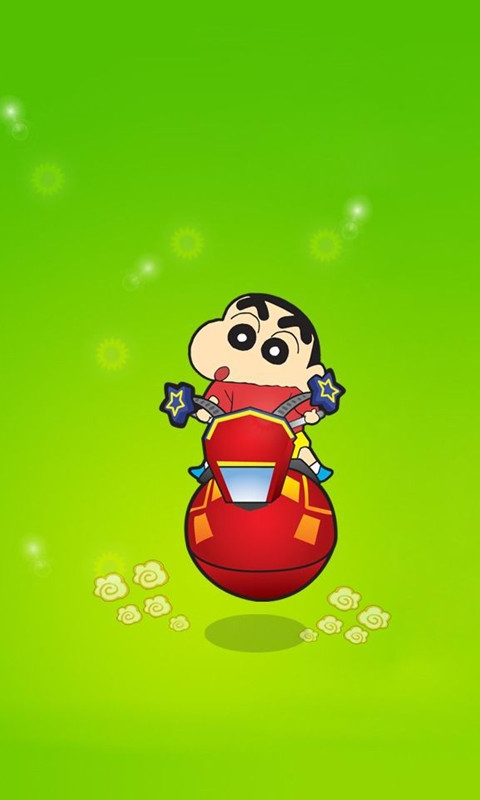 Crayon Shin-chan Cycle Windows Phone Wallpaper