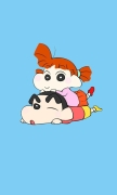 Crayon Shin-chan and Sister