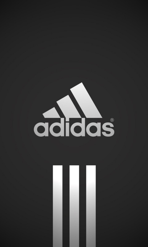 Gray adidas Logo Windows Phone Wallpaper