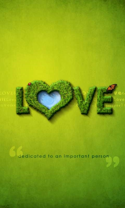 Love-dedicated to an important person Windows Phone Wallpaper