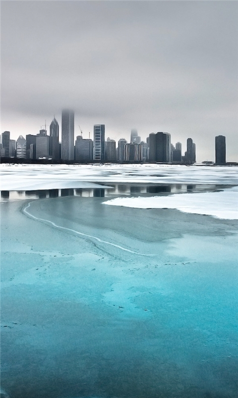 Frozen City Windows Phone Wallpaper