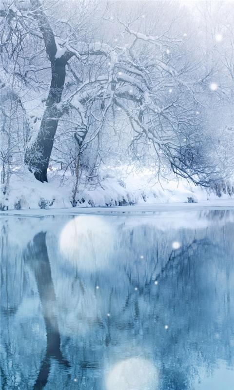 Frozen Lake Windows Phone Wallpaper