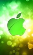 Green Bokeh Apple