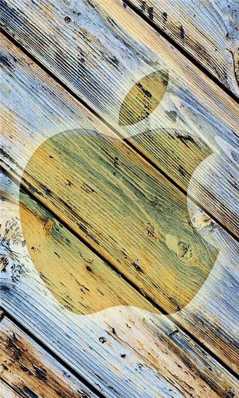 Apple Wood Windows Phone Wallpaper