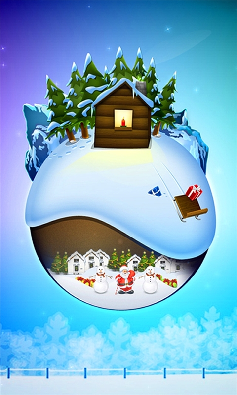Snowy Christmas Windows Phone Wallpaper
