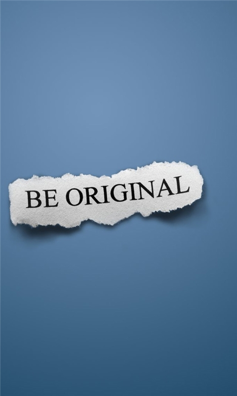 Be Original Windows Phone Wallpaper