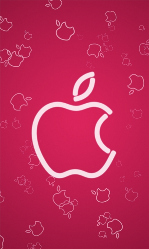 Pink Apple Windows Phone Wallpaper