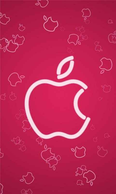 Pink Apple Windows Phone Wallpaper