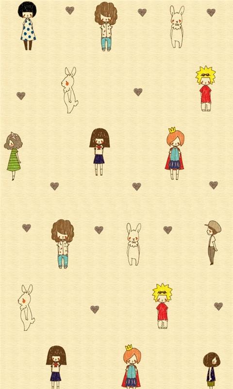 Cartoon background Windows Phone Wallpaper