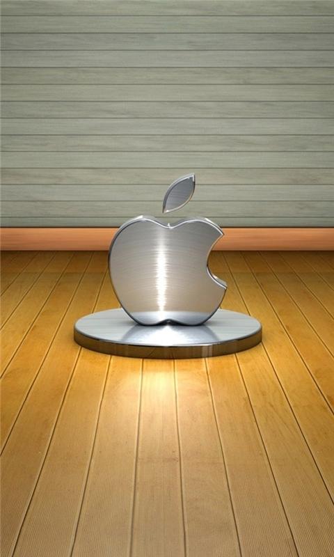 3D Metal Apple Windows Phone Wallpaper