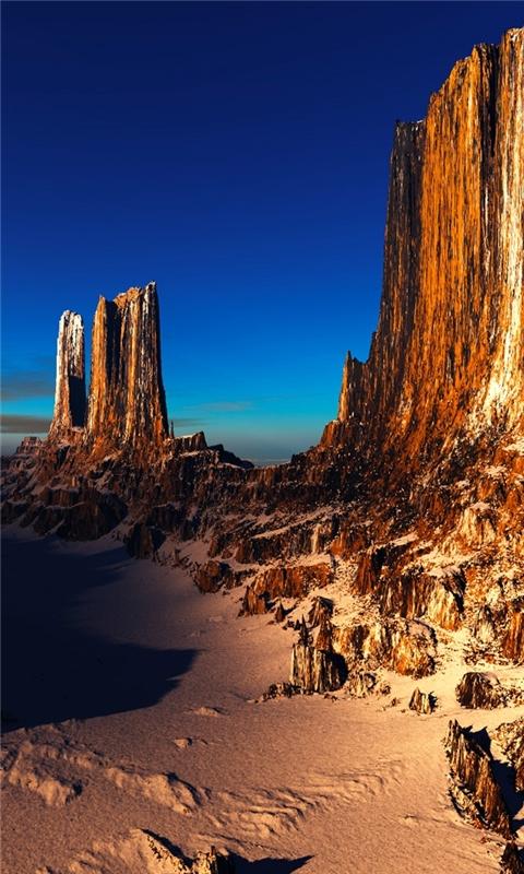 Canyon Dusk Windows Phone Wallpaper
