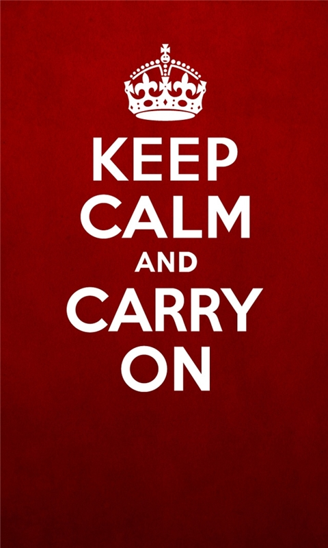 Keep Calm Windows Phone Wallpaper