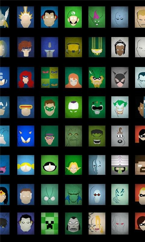 Superheroes Windows Phone Wallpaper