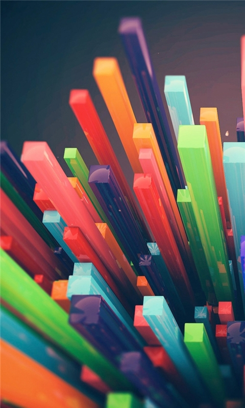 Colorful Sticks Windows Phone Wallpaper