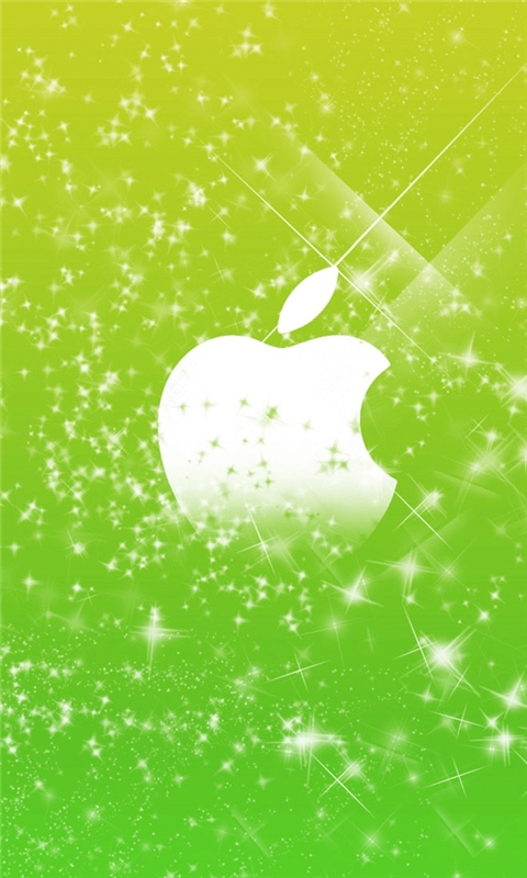 Green Flares Apple Windows Phone Wallpaper