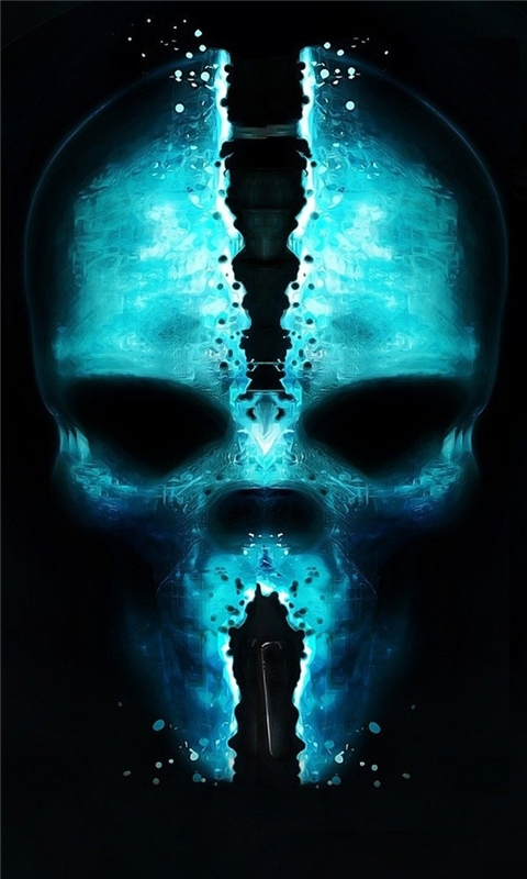 Skull Glow Windows Phone Wallpaper