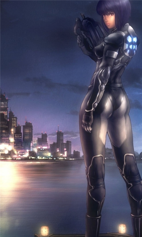 Ghost In The Shell Anime Windows Phone Wallpaper Freewpwallpapers