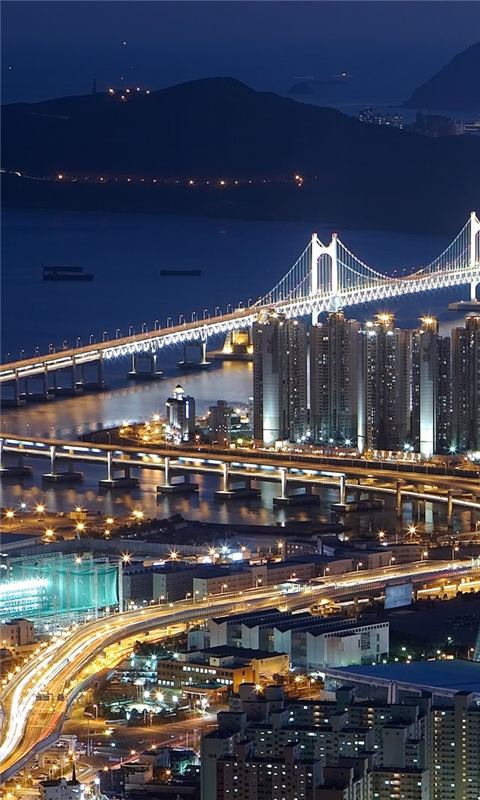 Gwangan Bridge busan south korea Windows Phone Wallpaper