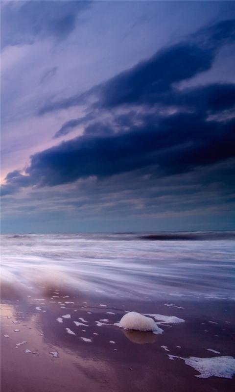 Purple skies Windows Phone Wallpaper