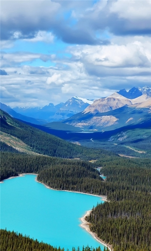 Canada Blue Lake Windows Phone Wallpaper