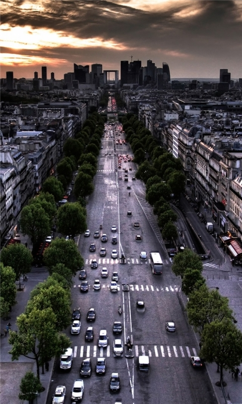 Paris Aerial View From Triumphal Arch In Louvre Di Windows Phone Wallpaper