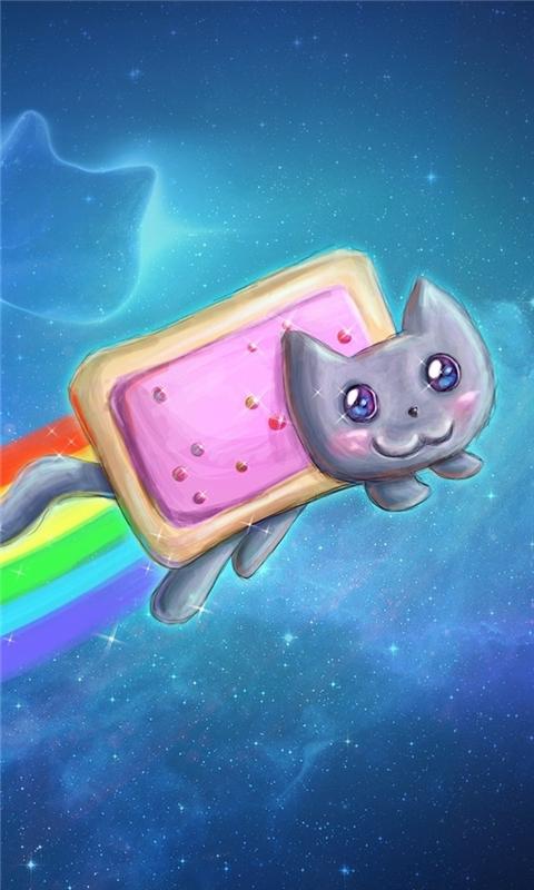 Nyan Cat Pop-Tarts Windows Phone Wallpaper