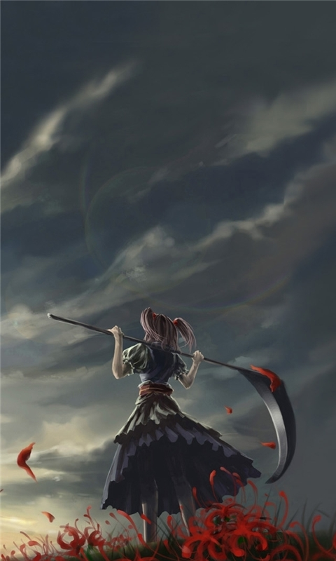 Girl With Scythe Windows Phone Wallpaper