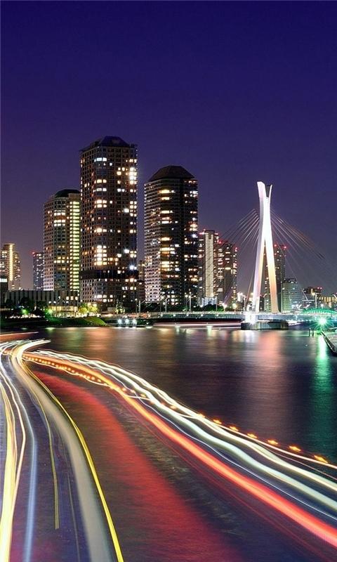 City Lights Tokyo Windows Phone Wallpaper
