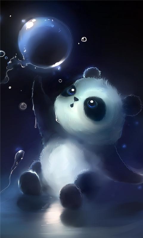 Panda Magic Bubbles Windows Phone Wallpaper