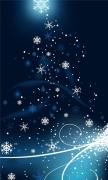 Snowflakes dancing