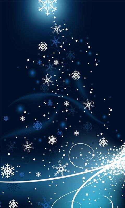 Snowflakes dancing Windows Phone Wallpaper