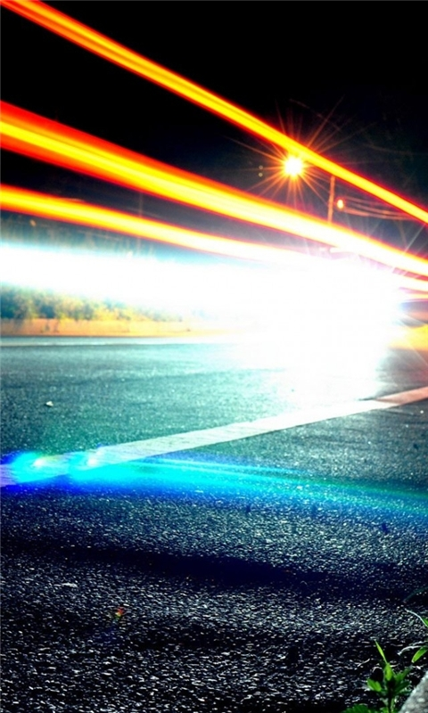 Road Lights Windows Phone Wallpaper