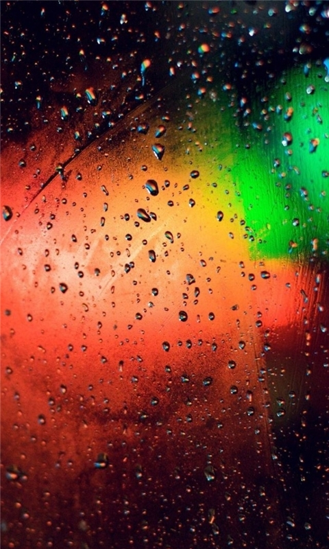 Glass Rain Colorful Windows Phone Wallpaper