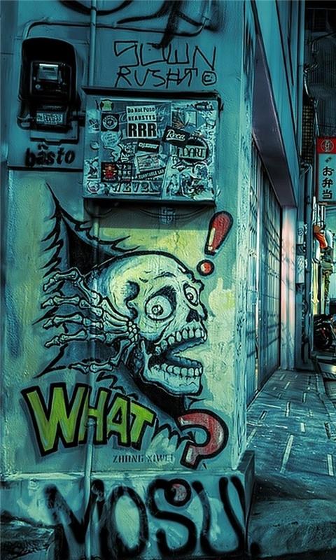 Graffiti street Windows Phone Wallpaper