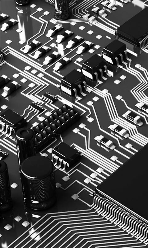 Circuit Boards Capacitors Resistors Windows Phone Wallpaper
