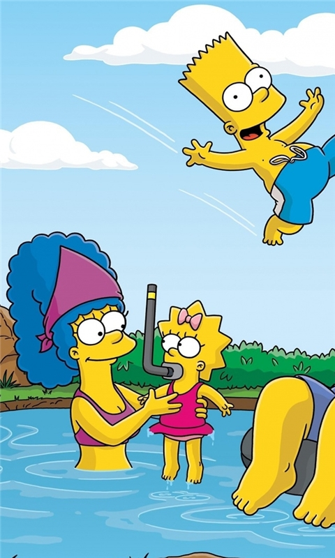 The Simpsons Summer Vacation Windows Phone Wallpaper