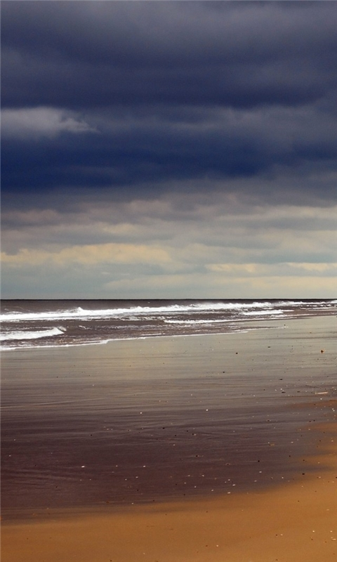 Black Sky Beach Windows Phone Wallpaper