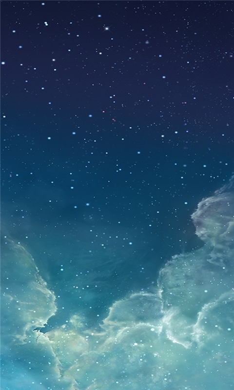 Starry night sky Windows Phone Wallpaper