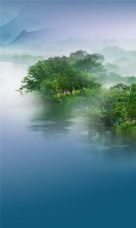 Misty Landscape Windows Phone Wallpaper
