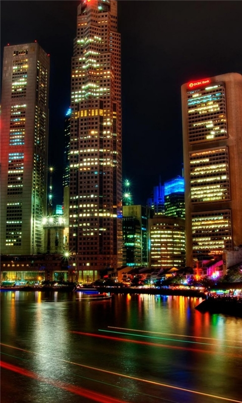 Singapore Night Windows Phone Wallpaper