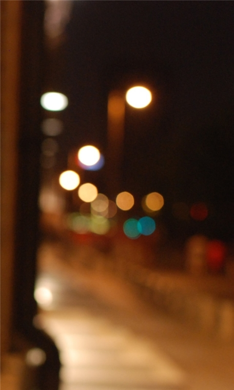 Night Street Windows Phone Wallpaper